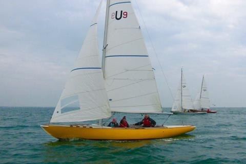 Sheen, skippered by Steve Marshall, making close-hauled progress
